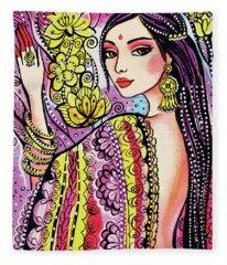 Soul Of India Fleece Blanket