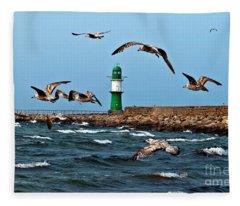 Sound Of Seagull Fleece Blanket