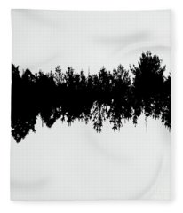Sound Waves Made Of Trees Reflected Fleece Blanket
