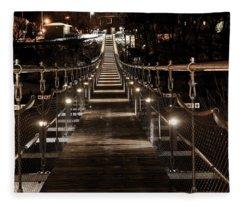 Souris Manitoba Swinging Bridge  Fleece Blanket
