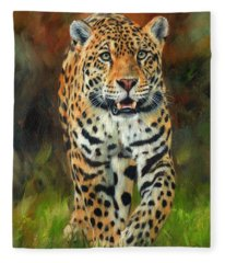 South American Jaguar Fleece Blanket