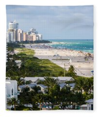 South Beach Late Afternoon Fleece Blanket