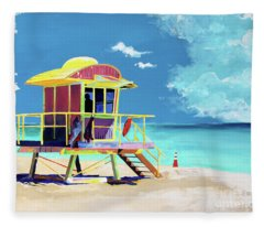 South Beach Fleece Blanket