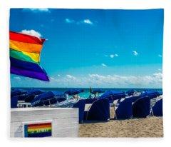 South Beach Pride Fleece Blanket