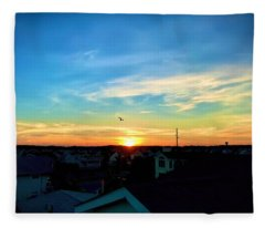 South Bethany Sunset Fleece Blanket