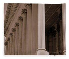 South Carolina State House Columns  Fleece Blanket