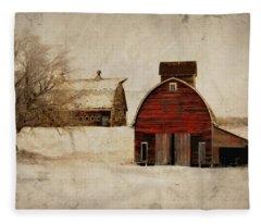 South Dakota Corn Crib Fleece Blanket