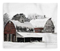South Dakota Farm Fleece Blanket