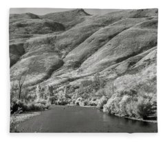 South Fork Boise River 2 Fleece Blanket