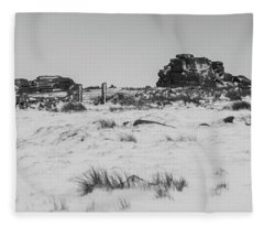 South Hessary Tor In The Snow Fleece Blanket