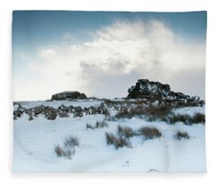 South Hessary Tor In The Snow II Fleece Blanket