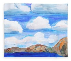 South Morro Bay View To North Fleece Blanket