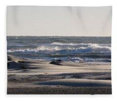 South Padre Island Surf Fleece Blanket