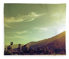 South Palm Springs California Fleece Blanket