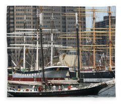 South Street Seaport Pioneer Fleece Blanket