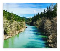 South Umpqua River Oregon  Fleece Blanket