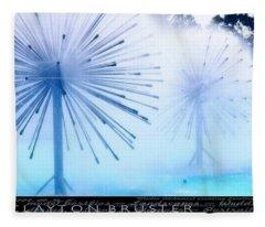 Southern California Fountains Fleece Blanket