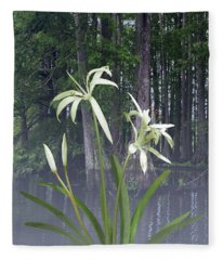 Southern Swamp Lily Fleece Blanket