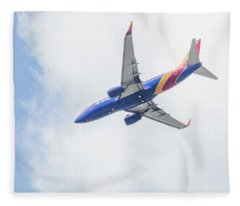 Southwest Airlines With A Heart Fleece Blanket