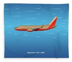 Southwest Boeing 737-700 Fleece Blanket