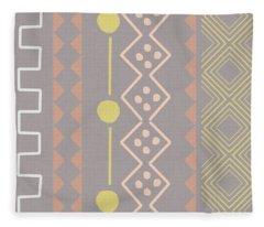 Southwest Decorative Design 7- Art By Linda Woods Fleece Blanket