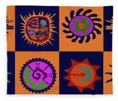 Southwest Del Sol Fleece Blanket