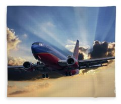 Southwest Dramatic Rays Of Light Fleece Blanket