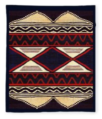 Southwest Folk Art  Fleece Blanket