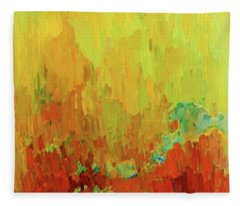 Southwest Mountain Sunset Fleece Blanket