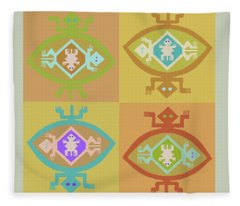 Southwest Tortuga Fleece Blanket