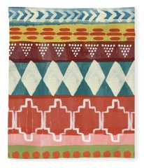 Southwestern 1- Art By Linda Woods Fleece Blanket
