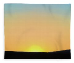Southwestern Sunset Fleece Blanket