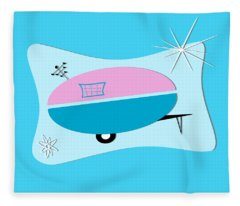 Space Age Camper Fleece Blanket