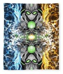 Space Alien Time Machine Fantasy Art Fleece Blanket