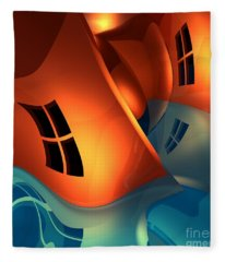 Space Curvature Fleece Blanket