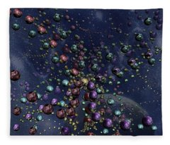 Space Geometry Fleece Blanket