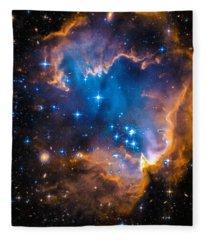 Space Image - New Stars And Nebula Fleece Blanket