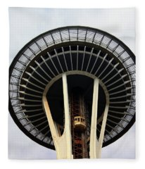 Space Needle- By Linda Woods Fleece Blanket