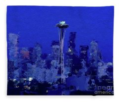 Space Needle, Seattle Fleece Blanket