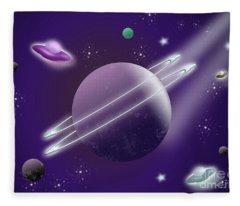 Space Travel Fleece Blanket