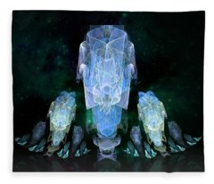 Spacey Footprints Fleece Blanket