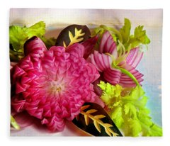 Spanish Flowers Fleece Blanket