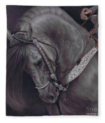 Spanish Horse Fleece Blanket