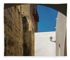 Spanish Street Fleece Blanket
