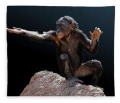 Spare Change? - Bonobo Fleece Blanket