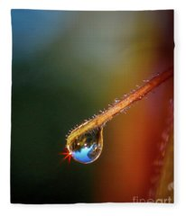 Sparkling Drop Of Dew Fleece Blanket