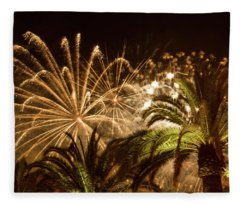 Sparkly New Years Fireworks Fleece Blanket