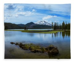 Sparks Lake, Oregon Fleece Blanket