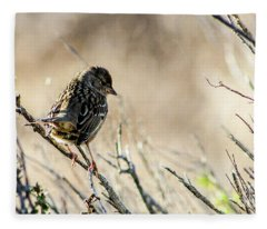 Snarky Sparrow Fleece Blanket
