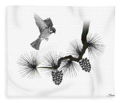 Sparrow Landing  Fleece Blanket